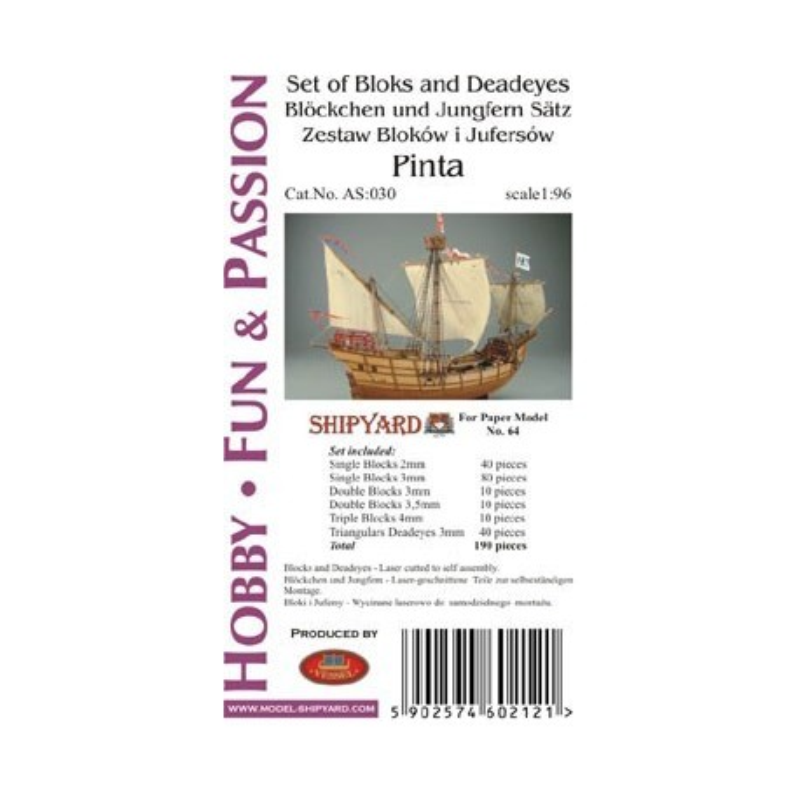 AS:030 Komplet Bloków, Jufersów oraz serc Pinta
