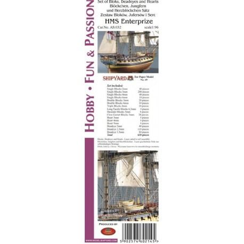AS:032 Komplet Bloków, Jufersów oraz serc HMS Enterprize